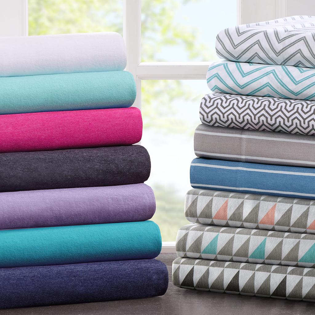 cotton blend jersey knit sheet set - Jersey Knit Sheets