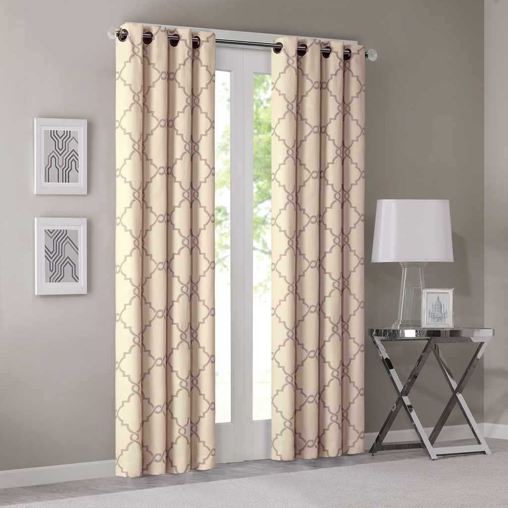 Saratoga Fretwork Print Window Curtain Madison Park Olliix