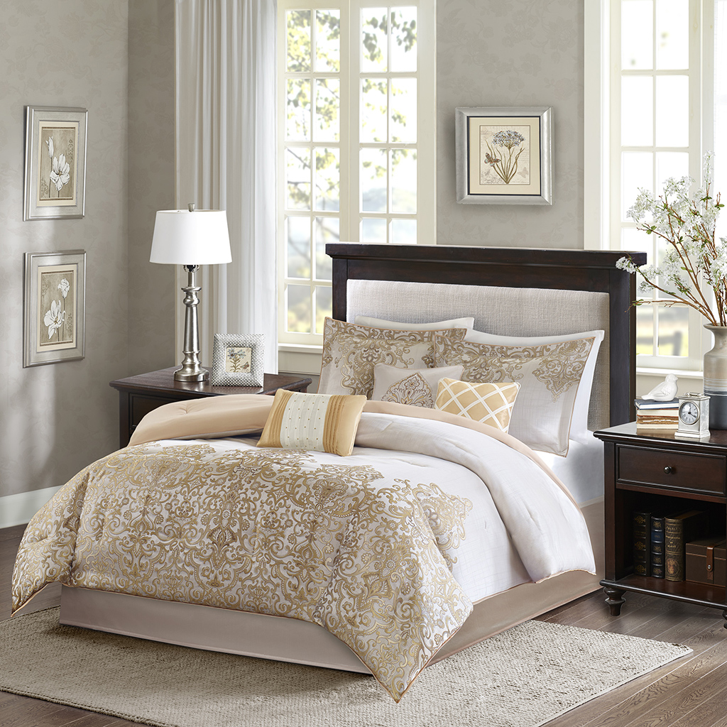 Vanessa 7 Piece Comforter Set Madison Park Olliix