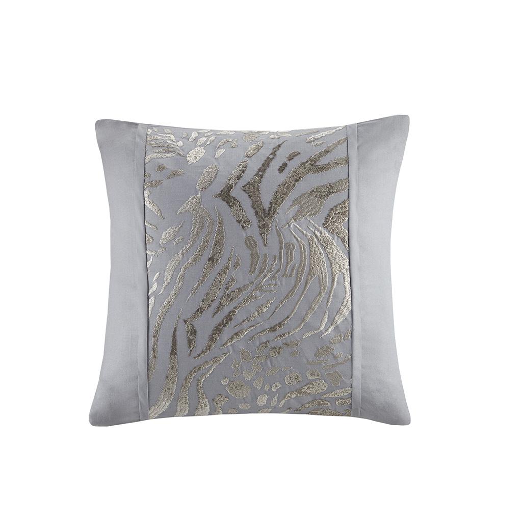 Dohwa Embroidered Cotton Square Decorative Pillow By N Natori Designer Living