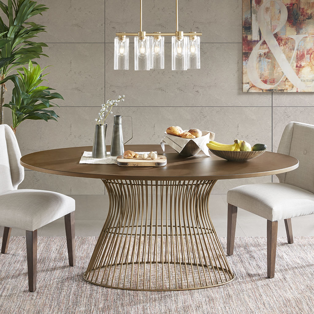 Mercer Oval Dining Table Ink Ivy Olliix