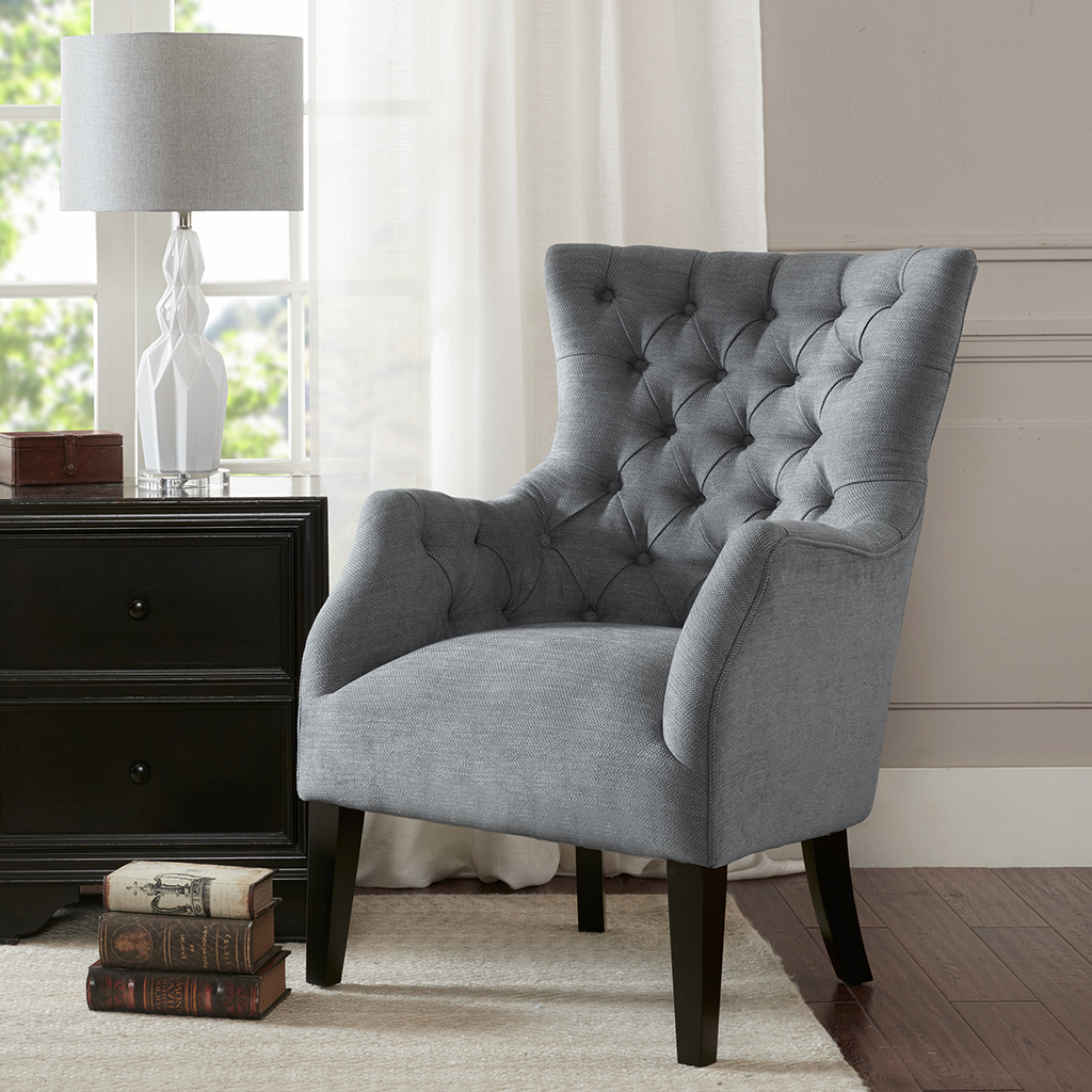 Hannah Button Tufted Wing Chair Madison Park Olliix