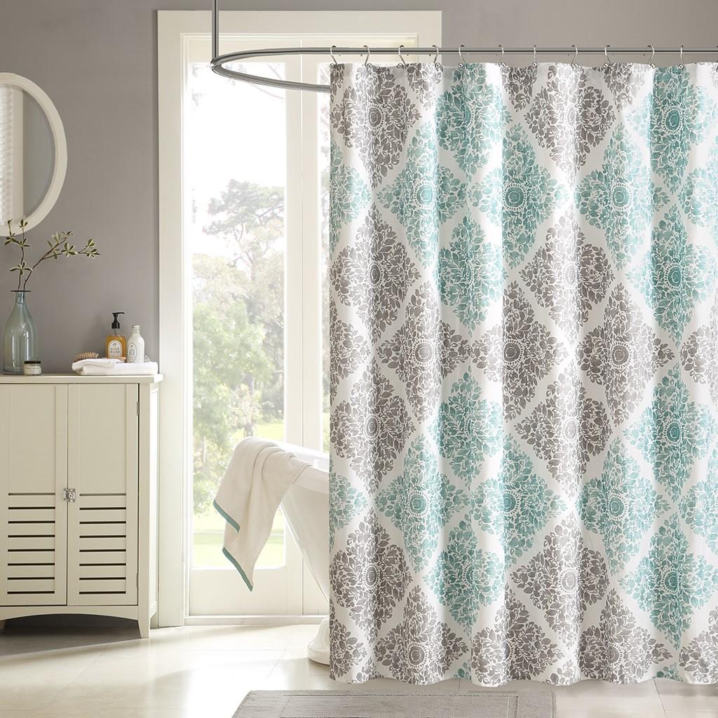 unique shower curtains  all sizes  designer living  designer living - claire printed shower curtain