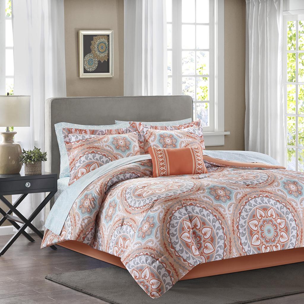 Serenity Complete Comforter And Cotton Sheet Set Madison Park Essentials Olliix