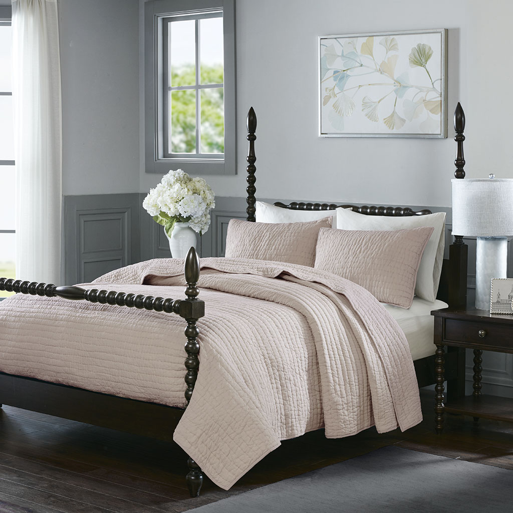 Serene Cotton Hand Quilted Coverlet Set Madison Park