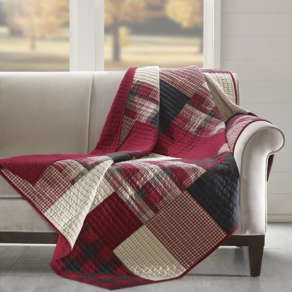 Charmant Sunset Quilted Throw