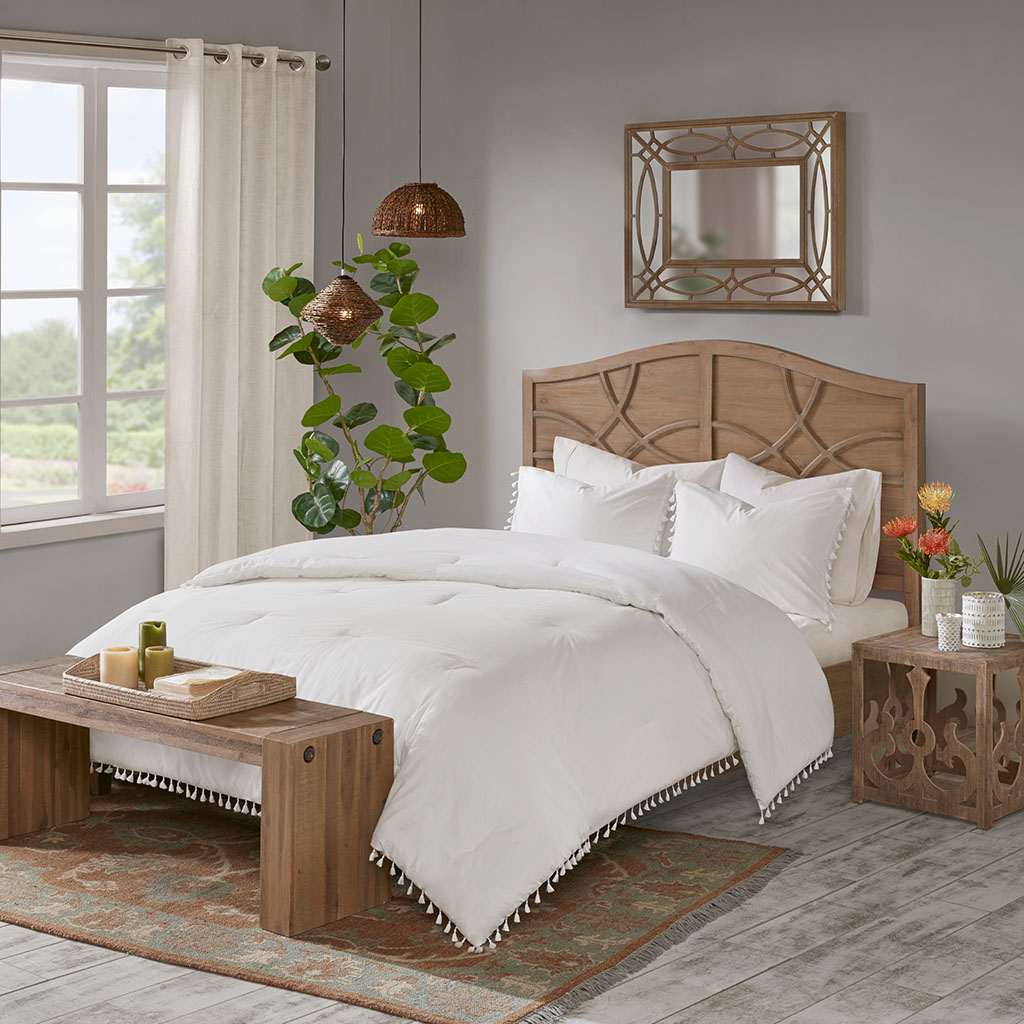 Full Queen New Lillian 3 Piece Cotton Comforter Set Cotton White Madison Park Ebay