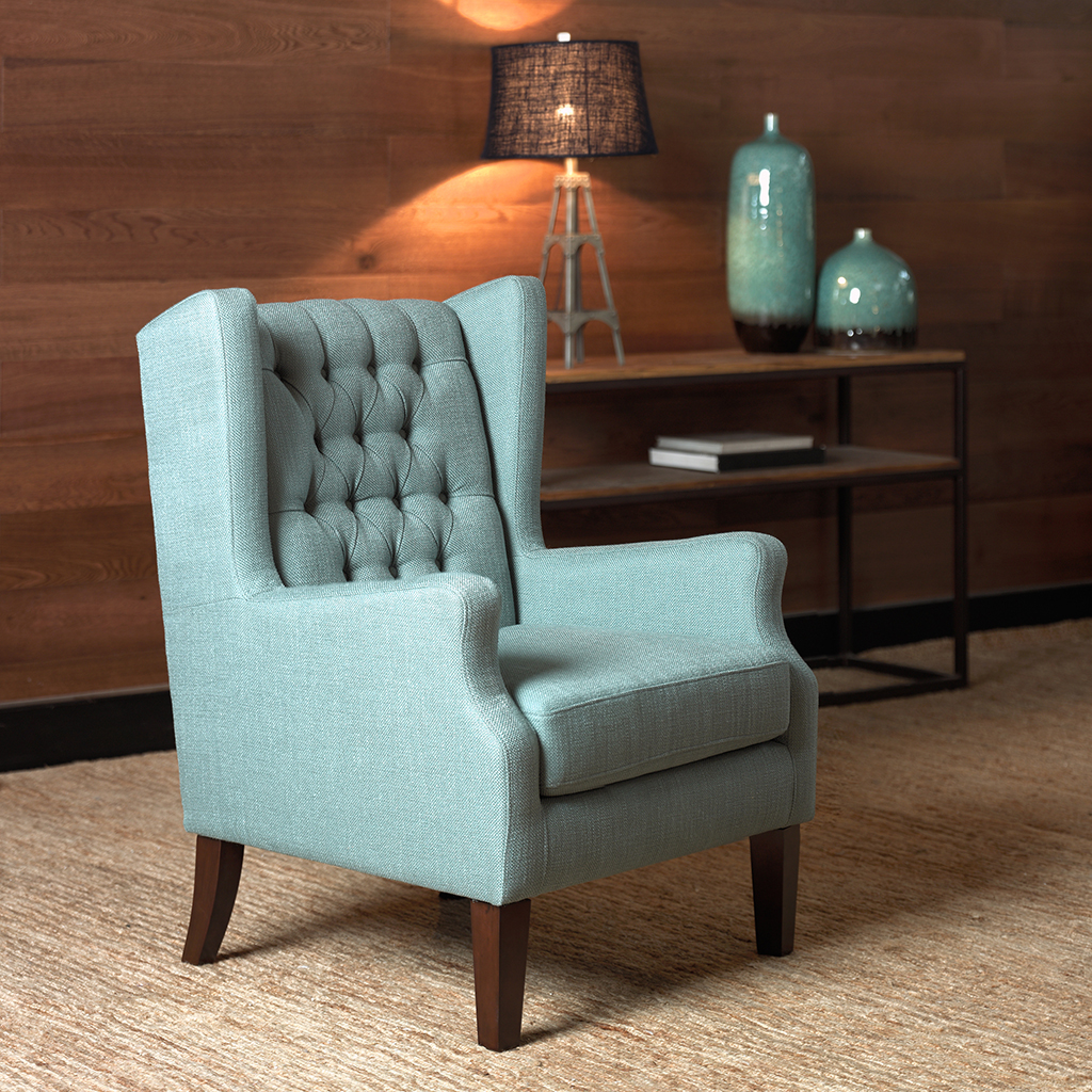 Maxwell Button Tufted Wing Chair Madison Park Olliix