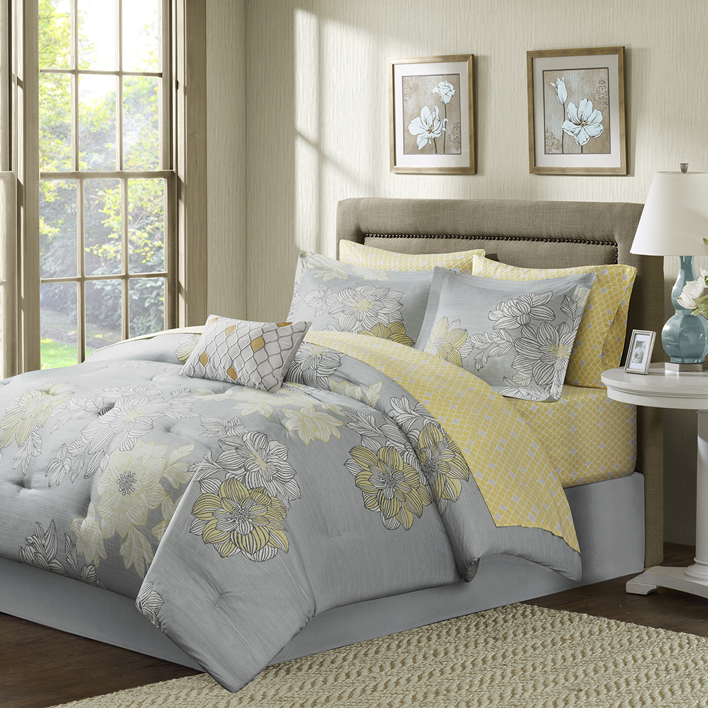 Avalon Complete Comforter And Cotton Sheet Set Madison