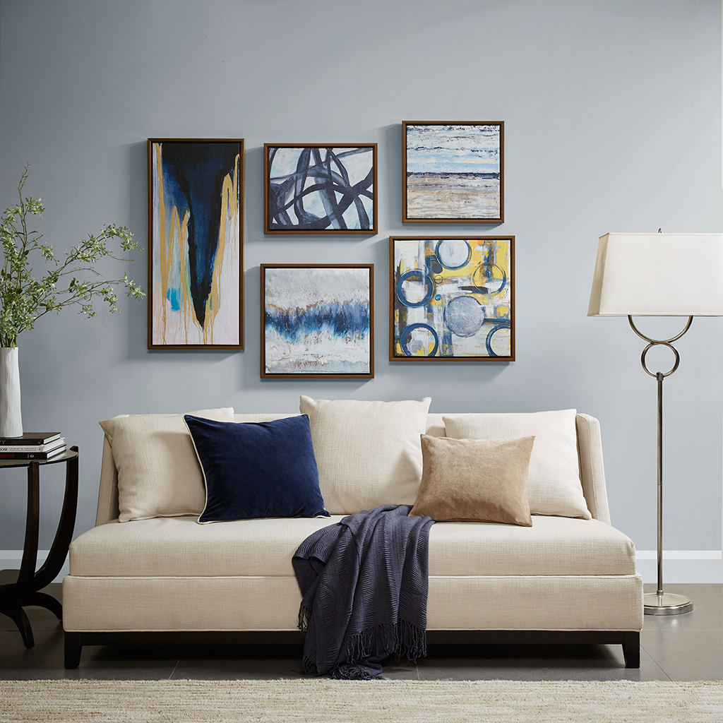 Blue Bliss Gallery Art 5 Piece Set