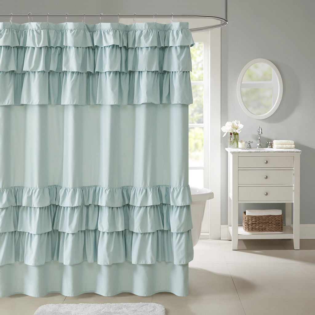 Charmant Grace Ruffled Shower Curtain