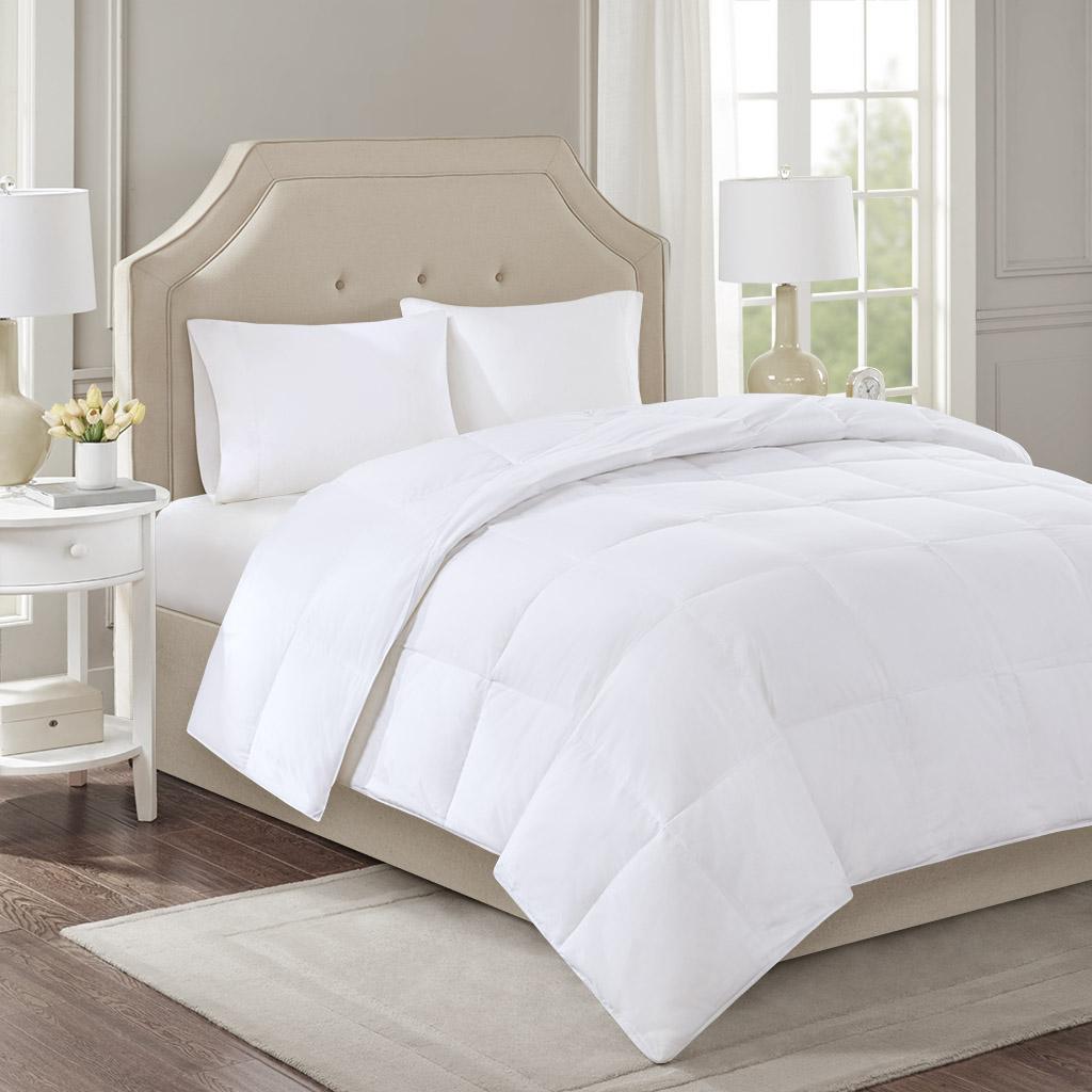 Level 3 300 Thread Count Cotton Sateen White Down Comforter With 3m Scotchgard By True North By Sleep Philosophy Designer Living