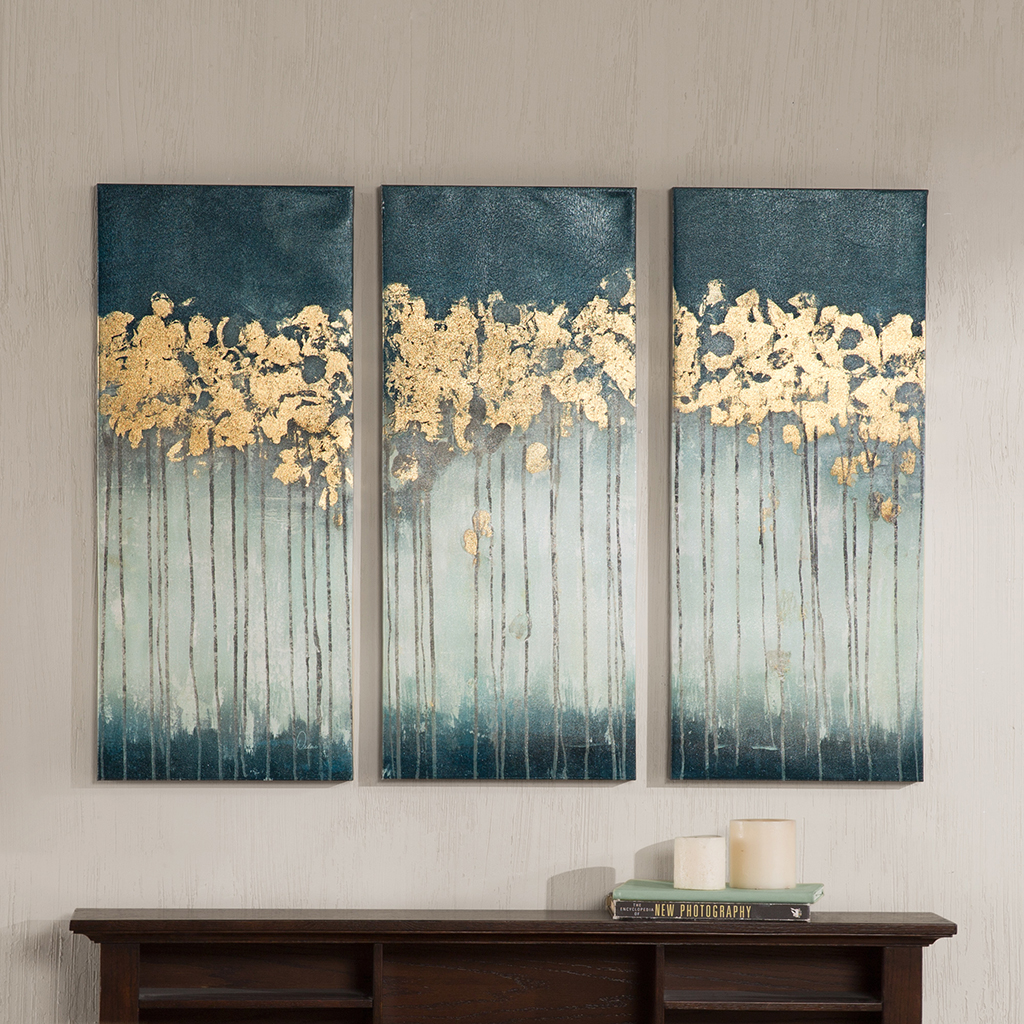 Midnight Forest Gel Coat Canvas With Gold Foil Embellishment