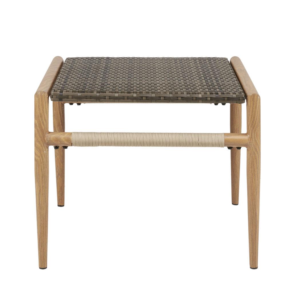 Tremendous Owen Outdoor Resin Wicker Accent Table Andrewgaddart Wooden Chair Designs For Living Room Andrewgaddartcom