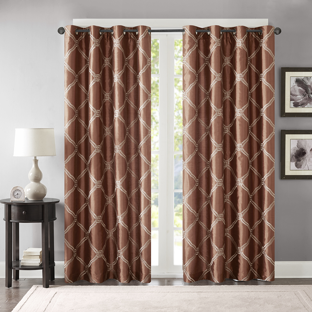 Teramo Embroidered Polyoni Window Curtain Bombay Olliix
