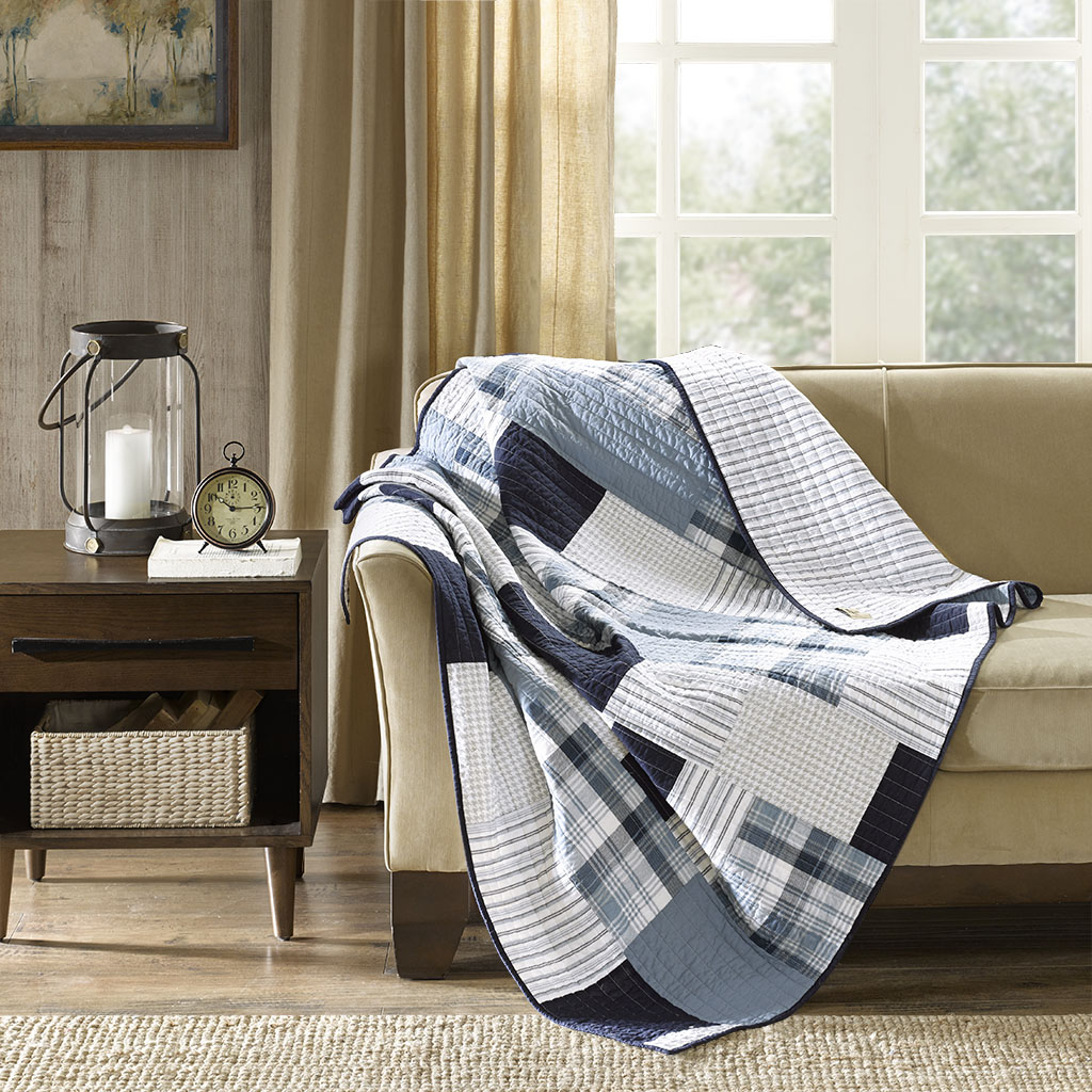 Beau Riverview Oversized Cotton Quilted Throw